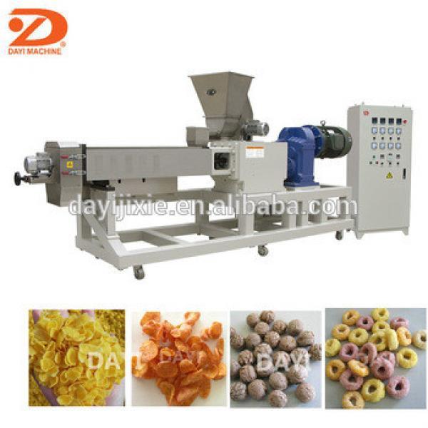 Double screw corn flakes extruding machine
