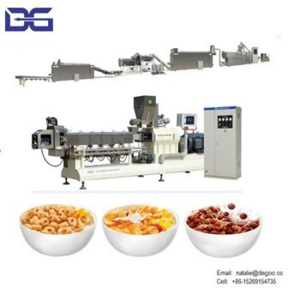 Corn flakes cereal snack bar making machine