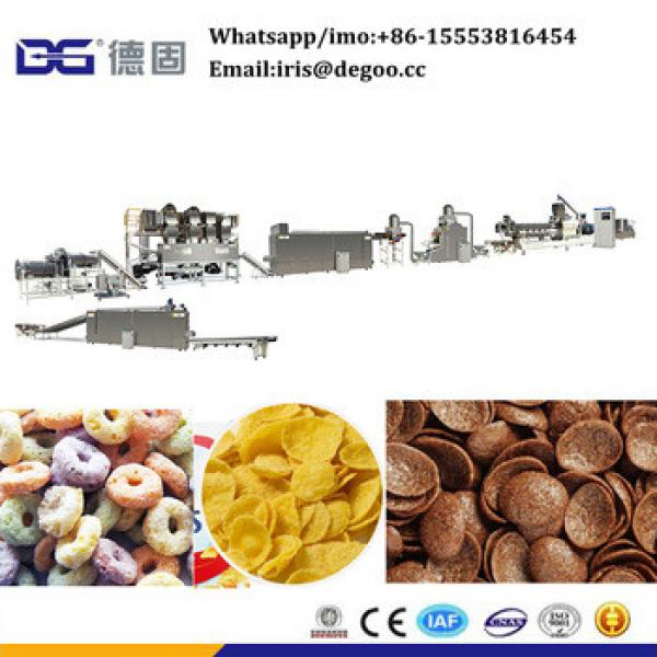 Kelloggs fruit loops ring breakfast cereal flakes snack food making extruder machine/production line