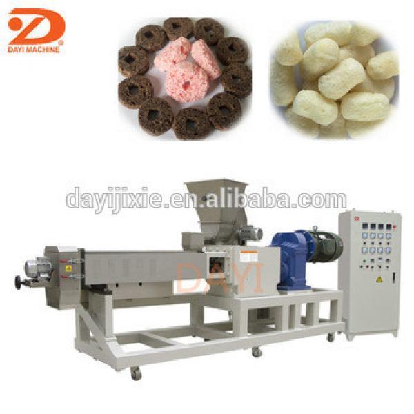 Automatic corn puffs snack food extruder machine