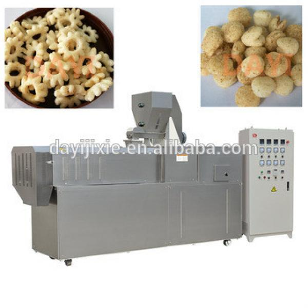 corn puffed food snacks double screw extruder making machine