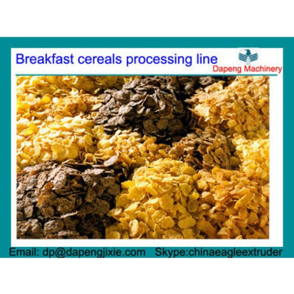 Breakfast cereals processing line/corn flake making machine/roasted corn flakes processing line/breakfast cereal production line