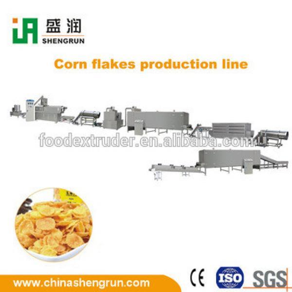 Stainless steel instant choco flavoured corn flakes extruder machine