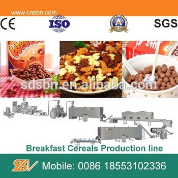 low consumption Kellogg's corn flakes breakfast cereals processing plant machine