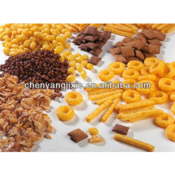 Automatic corn flakes production line/breakfast cereals corn flakes making Machine/cornnuts snack food machinery ss