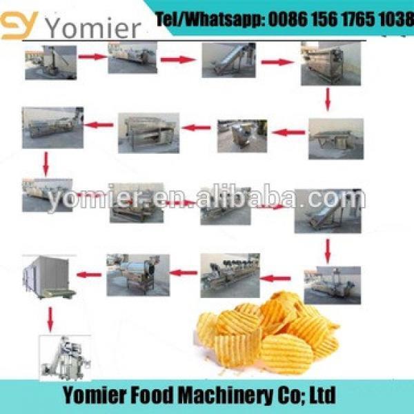 Hot Sale Frozen French Fries Production Line/Potato Chips Making Machine To Make Potato Chips