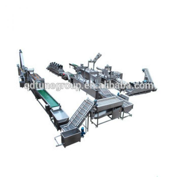 Automatic Frozen French Fries Processing Line potato chips making machine 300-400kg per hour capacity