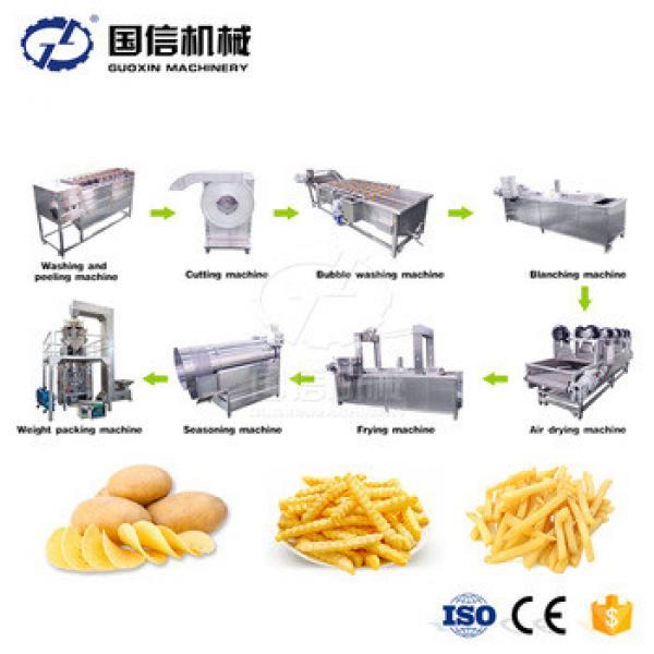 Hot sale automatic fresh potato chips french fries making machine / Potato french fries