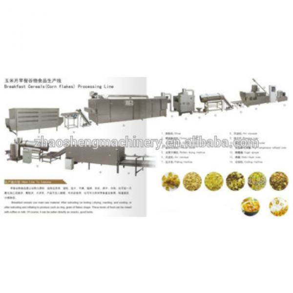 Made in China High Capacity Breakfast Ceral Make Machine Small scale corn flakes industries making manufacturing machine