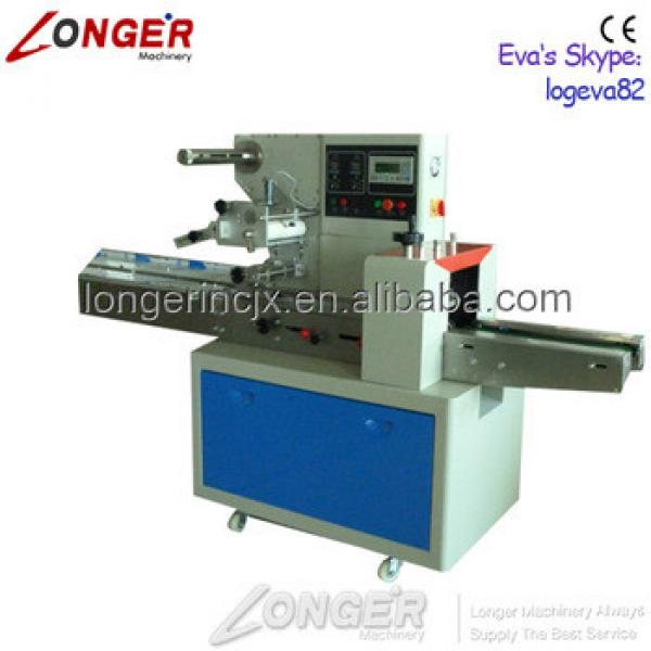 Professional Granola Candy Bar Flow Wrapper Machine   Ice Popsicle Packaging Machine