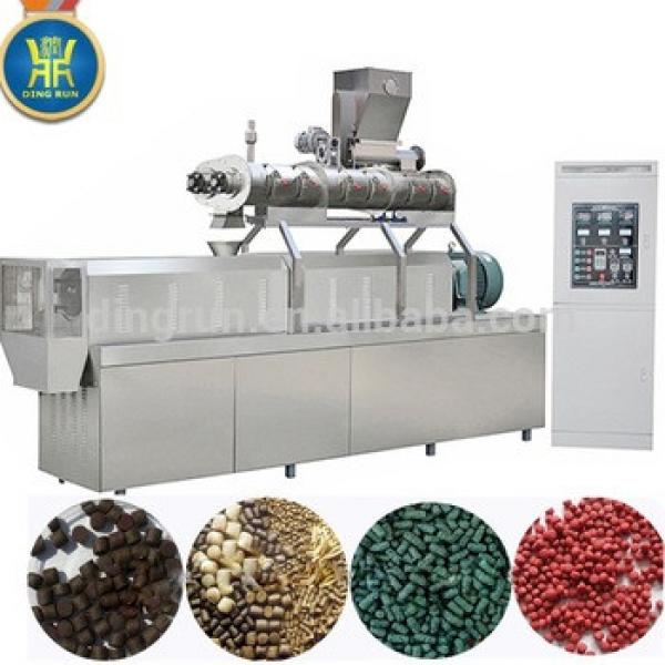 Jinan Shandong animal pet snack extruder production line floating fish feed food pellets machine machinery price