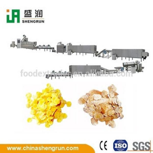 extruded breakfast cereals corn flakes processing line machine