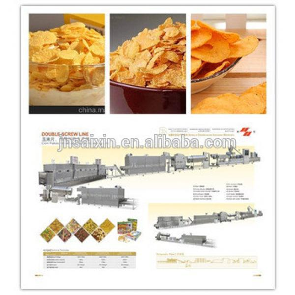 Corn flakes breakfast cereals processing line with CE ISO from saixin