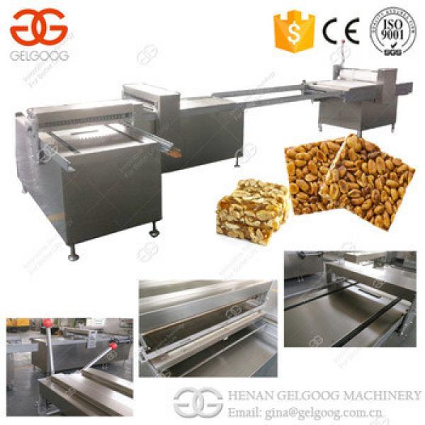 Stainless Steel Cereal Bar Line Granola Oat Crisp Sesame Peanut Candy Machine For Sale