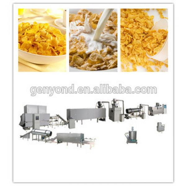 Automatic cereal breakfast corn flakes production line/corn flakes processing machine/pop