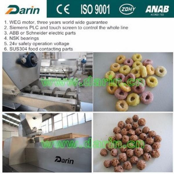 Automatic Sweet flavor syrup coating corn flakes machine food extruded production line from Darin Machinery