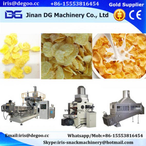 healthy food corn flakes machine/corn chips making machine Jinan DG
