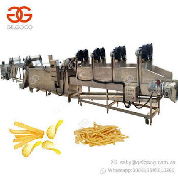 GELGOOG Machinery Manufacturing Finger Potato Chips Production Line Processing Plant Potato French Fries Making Machine