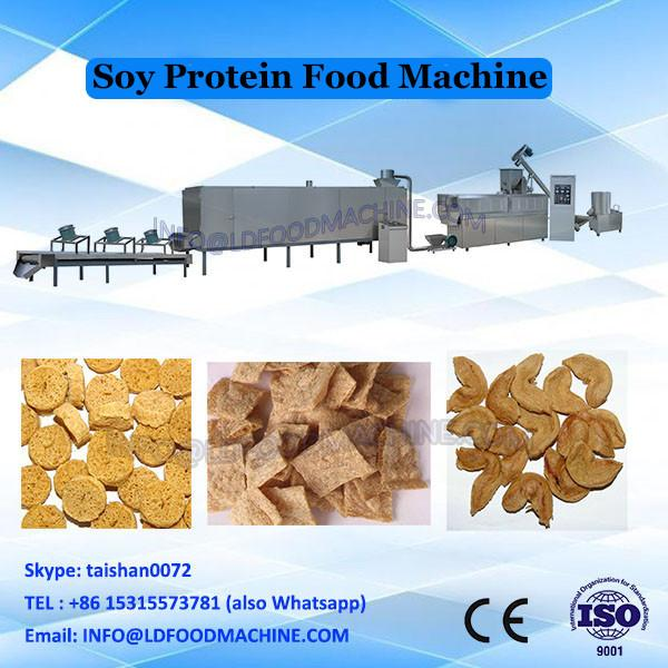 2017 stainless steel TVP/TSP Soya nuggets protein food making machine