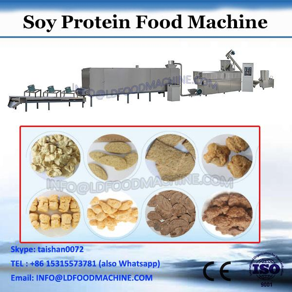 Stailess steel twin screw extruder textured soya protein making machine