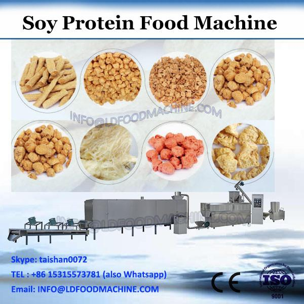 Twin screw extruder for soya protein