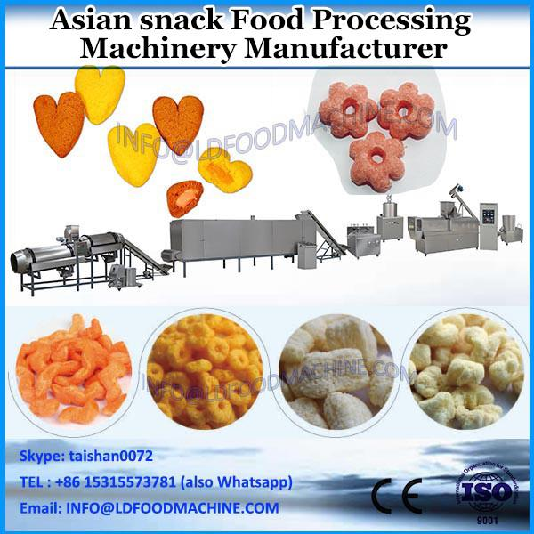 Fried Bugle snack food making machine/pellet chip processing line with 120kg/h