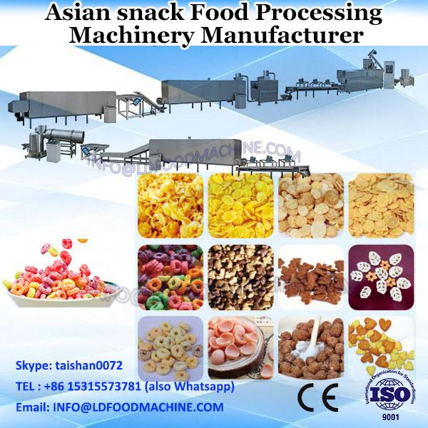 2017 hot style snacks chips processing line plant with individual generators