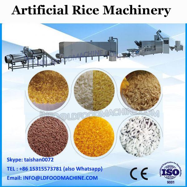 Golden rice making machine artificial rice maker machine