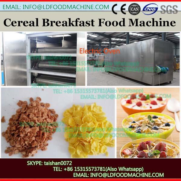 Continuous twin screw extruding breakfast cereal grain flakes machines production process line made in China supplier