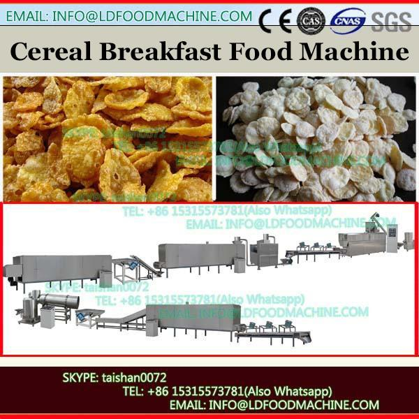 Breakfast twin screw extruding cereal snack puffing machine
