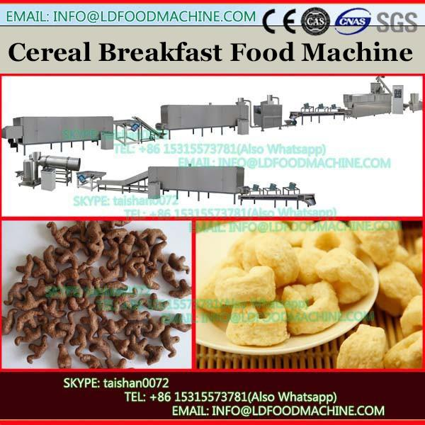 Breakfast twin screw extruder cereals corn flakes proceesing line food making machine