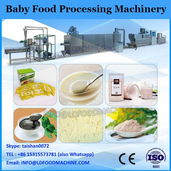 Self-cleaning baby food processing line
