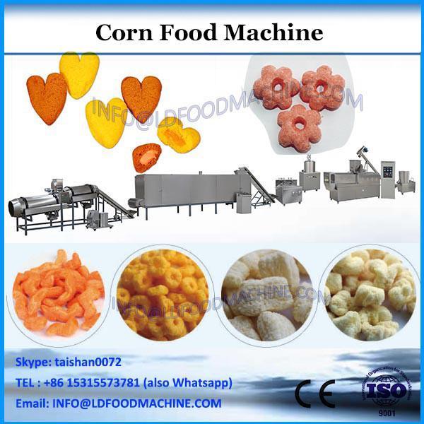 Corn flakes inflating food machinery