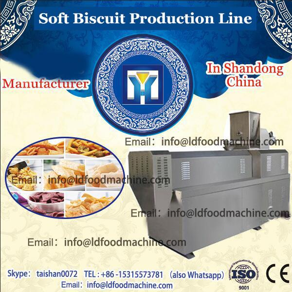 Newly design stainless steel gas center filling biscuit production line