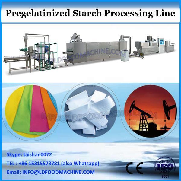 Pregelatinized starch extruder machine processing line