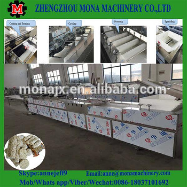 Automatic Press Flatting and Cutting Production Line / Cereal Bar Forming and Cutting Machine