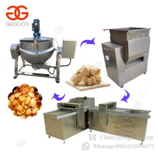 High Efficiency Sesame Bar Maker Chikki Cereal Bar Production Line Nougat Peanut Candy Machine
