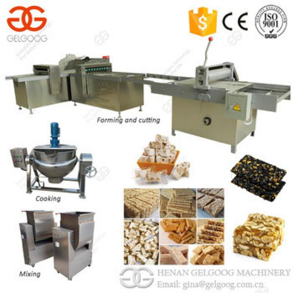 CE Provided Stainless Steel Production Line Snack Peanut Granola Cereal Bar Cutting Machine For Sale