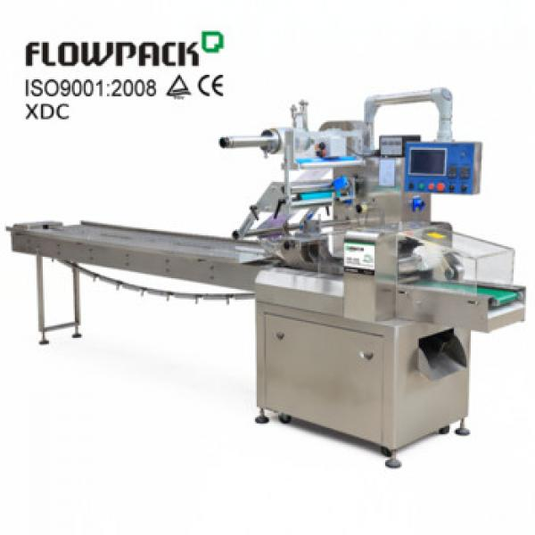Pillow Bag Brioche Bread Packaging Wrap Equipment Horizontal Flow Granola Bar Pack Wrapper Automatic Wrapping Machine For Food