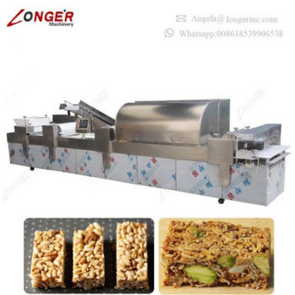 Industrial Granola Bar Peanut Brittle Machine Chikki Maker Cereal Bar Making Machine