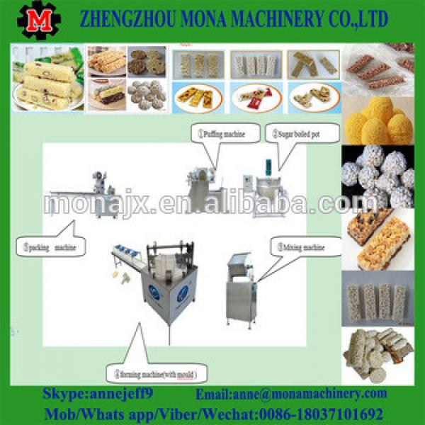 Puffed rice production line cereal bar production line for the various shapes