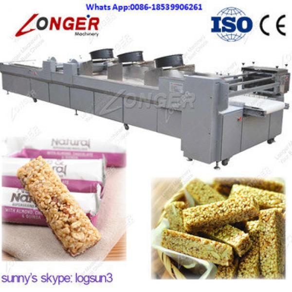 PLC Control Peanut Candy Bar Forming and Cutting Machine