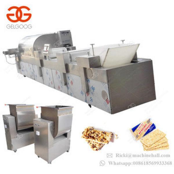 Stainless Steel Peanut Crisp Candy Maker Muesli Energy Sesame Bar Making Machine Cereal Bar Production Line For Sale