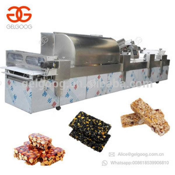 Automatic Snack Cereal Protein Energy Bar Cutting Sesame Peanut Brittle Candy Making Production Line Granola Bar Machine