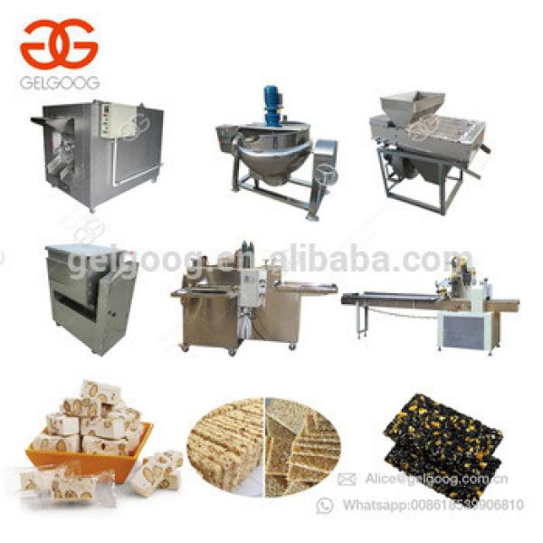 High Quality Protein Peanut Brittle Candy Cutting Production Line Muesli Snack Nut Bar Making Machine Energy Cereal Bar Machine