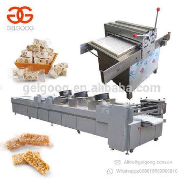 Cheap Price Chikki Cereal Energy Protein Snack Bar Production Line Sesame Peanut Candy Bar Forming And Cutting Machine