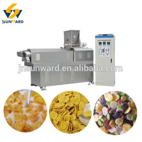 Automatic breakfast cereal bulk corn flakes process machine