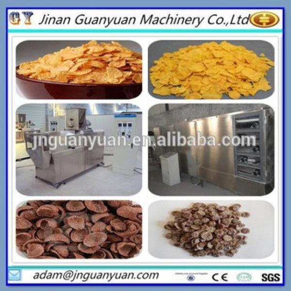 China manufacturing breakfast cereal corn flakes machine/snack bakery machine