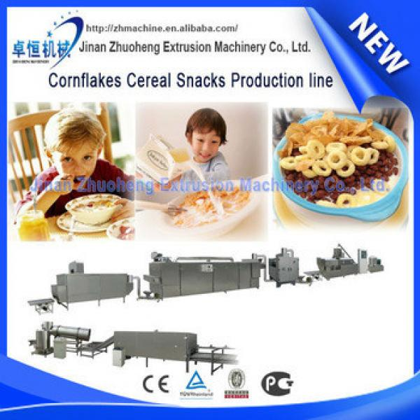 china manufacturer Crispy Cornflakes/breakfast Cereals Making Machine
