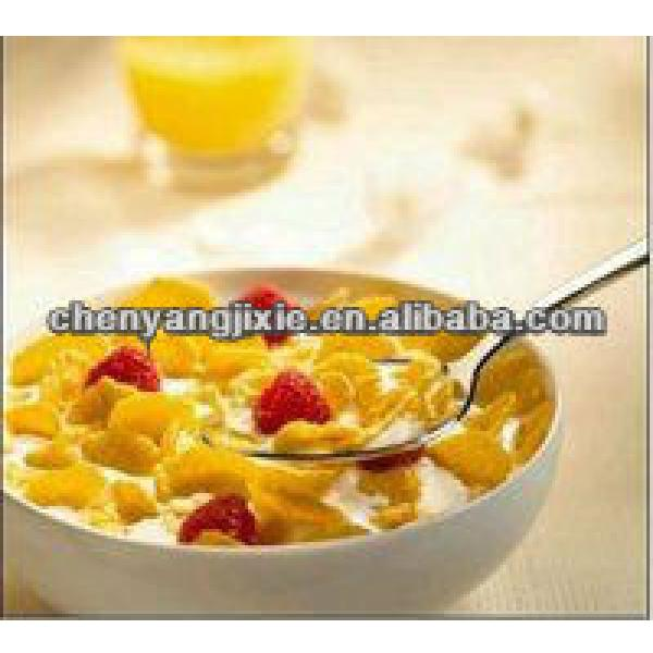 Crisp Cereal Corn Flakes Machine With Double Screws extruder/Puffed Corn Flakes Snack Processing Line